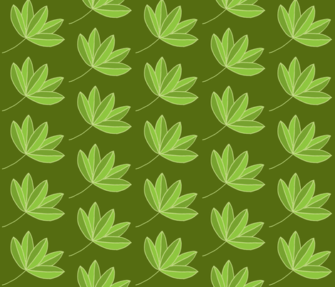 leafy flow fabric by dnbmama on Spoonflower - custom fabric