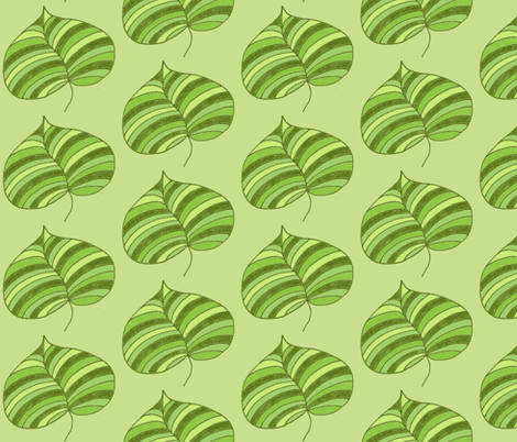 stripey palm greens fabric by dnbmama on Spoonflower - custom fabric
