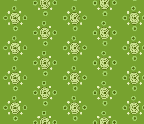 dots and swirls green fabric by dnbmama on Spoonflower - custom fabric