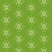 dots and swirls green