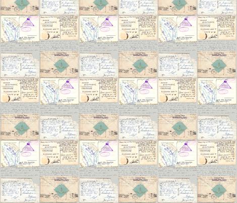 postcards fabric by katarina on Spoonflower - custom fabric