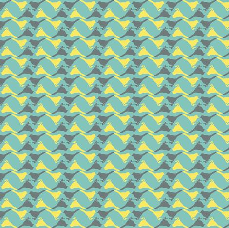 birds ditsy coordinate fabric by katarina on Spoonflower - custom fabric