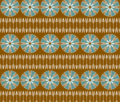 sun_and_arrow_marine fabric by holli_zollinger on Spoonflower - custom fabric