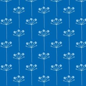 pop flower dark blues