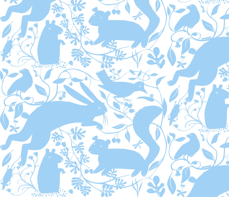 baby_blue_creatures fabric by antoniamanda on Spoonflower - custom fabric