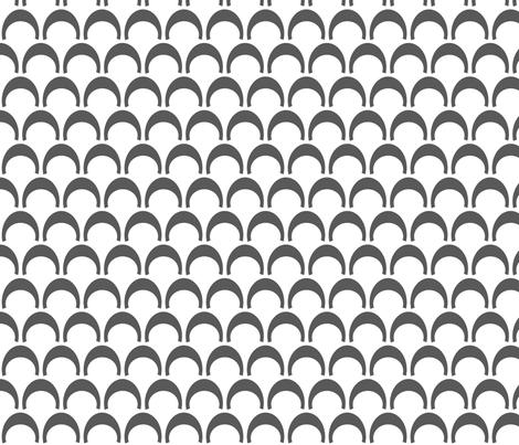 Semi_circle_Gray fabric by reganraff on Spoonflower - custom fabric