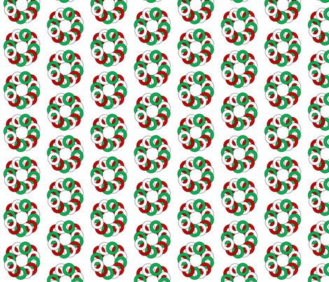 Holiday_linked_circles fabric by reganraff on Spoonflower - custom fabric