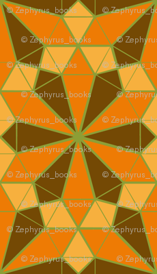 Colorful Tessellated Floral Wheel - Orange, Brown, Yellow, Green