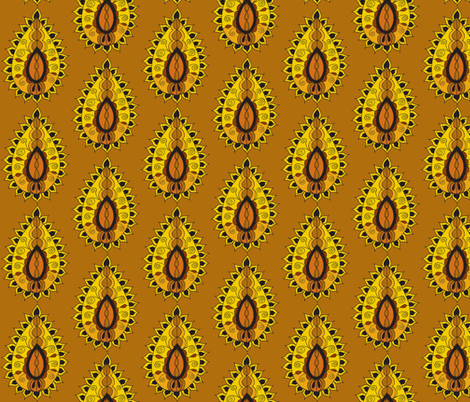 earth paisley teardrop brown fabric by dnbmama on Spoonflower - custom fabric
