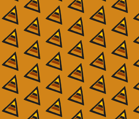earthy triangles brown fabric by dnbmama on Spoonflower - custom fabric