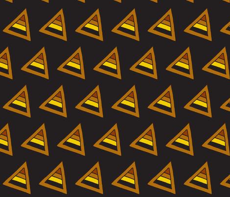 earthy triangles black fabric by dnbmama on Spoonflower - custom fabric