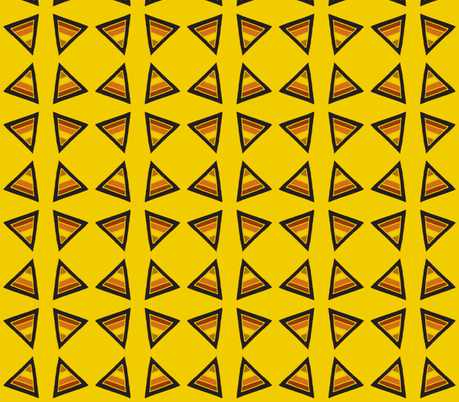 earthy triangles yellow fabric by dnbmama on Spoonflower - custom fabric