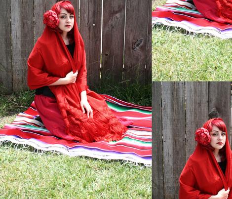 Manic Hispanic fabric by relicphoto on Spoonflower - custom fabric
