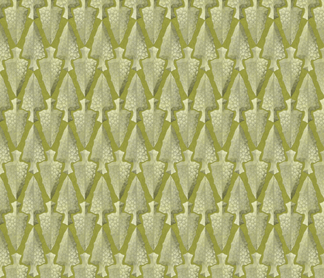arrowheads green gold fabric by glimmericks on Spoonflower - custom fabric