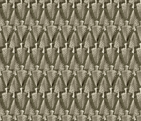 arrowheads gray fabric by glimmericks on Spoonflower - custom fabric