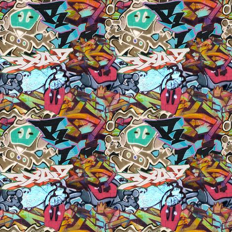 Graffiti fabric by britleymorgan on Spoonflower - custom fabric