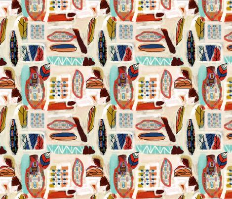 funky_leafs fabric by feltnlove on Spoonflower - custom fabric