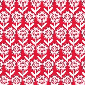 Geometric Flower - Red