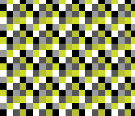 FrankenCheck fabric by kate_legge on Spoonflower - custom fabric