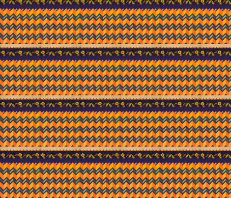 art_deco_color_designs_3_purple_orng_zig_zag fabric by welldunndesigns on Spoonflower - custom fabric
