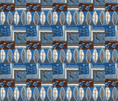 goodmorning-ed fabric by feltnlove on Spoonflower - custom fabric