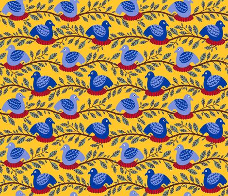 Nesting Birds fabric by yellowstudio on Spoonflower - custom fabric