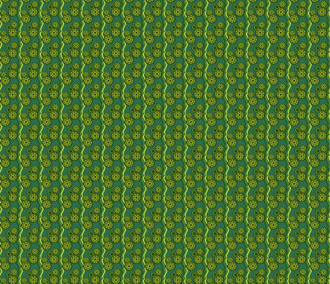 Green Grasshopper Ribbons fabric by olumna on Spoonflower - custom fabric