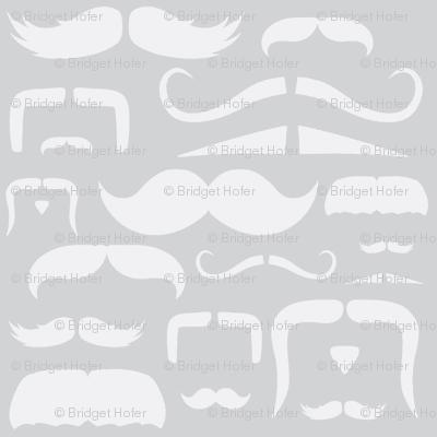 mustache love grey ghost