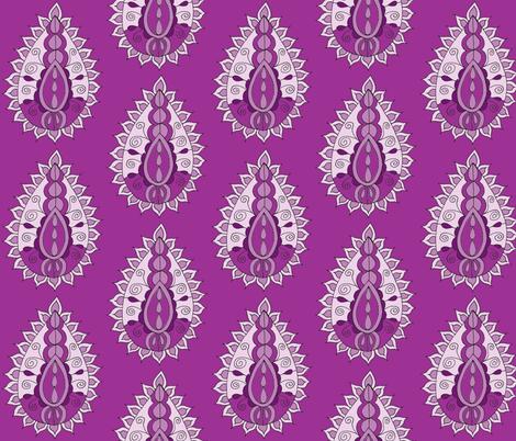 purple paisley teardrop fabric by dnbmama on Spoonflower - custom fabric