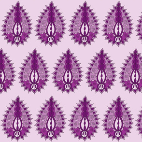 purple paisley teardrop light