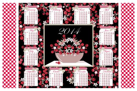 Calendar_2014 Fruit  fabric by alfabesi on Spoonflower - custom fabric