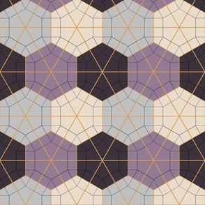 Tessellated Hexagonal Wheel - Shades of Grey