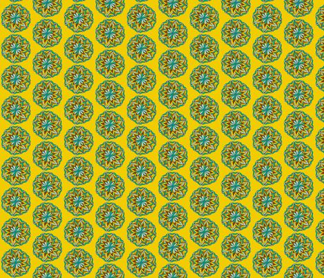 mustard mandala flower fabric by dnbmama on Spoonflower - custom fabric