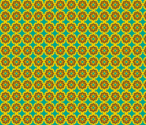 teal mustard minis fabric by dnbmama on Spoonflower - custom fabric