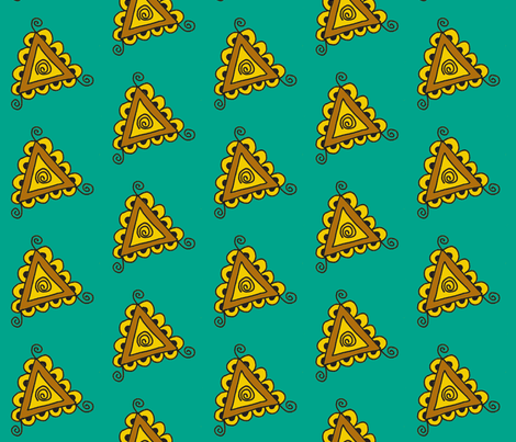 twisty triangles teal fabric by dnbmama on Spoonflower - custom fabric