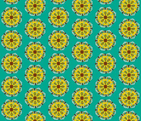 teal mandala fabric by dnbmama on Spoonflower - custom fabric