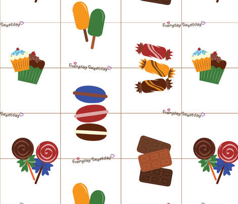candybar fabric by lovelyrinah on Spoonflower - custom fabric