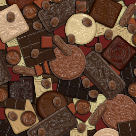 Got Chocolate? fabric by bonnie_phantasm on Spoonflower - custom fabric