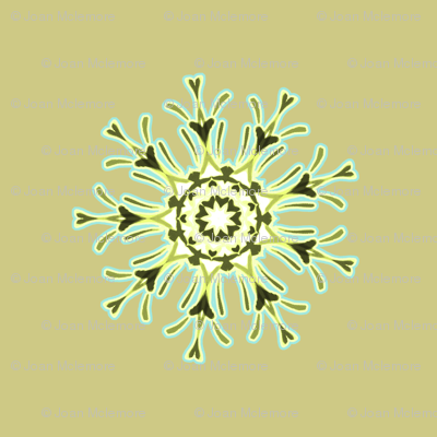 Medallion in moss