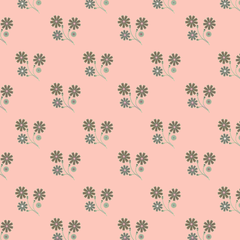 Sprigged Muslin in pink and gray fabric by joanmclemore on Spoonflower - custom fabric