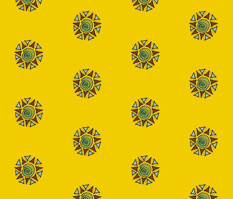 swirls and triangles mustard fabric by dnbmama on Spoonflower - custom fabric