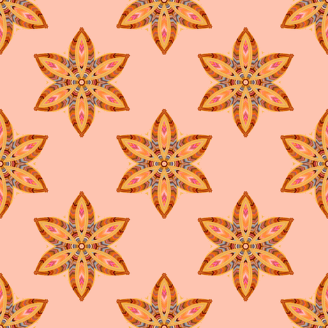 Feather Flower fabric by joanmclemore on Spoonflower - custom fabric