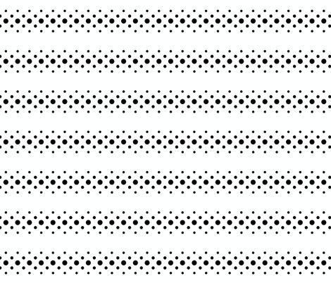 black 'n' white dot ribbon fabric by keweenawchris on Spoonflower - custom fabric