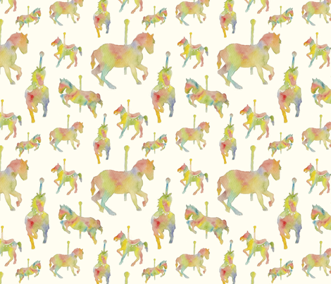 the carousel fabric by momshoo on Spoonflower - custom fabric