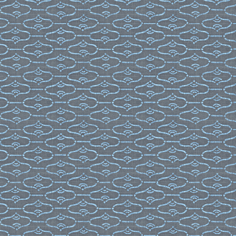 Aladdin - deep walnut brown/grey and light blue. fabric by materialsgirl on Spoonflower - custom fabric