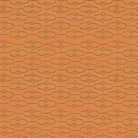Aladdin - melon/khaki  fabric by materialsgirl on Spoonflower - custom fabric