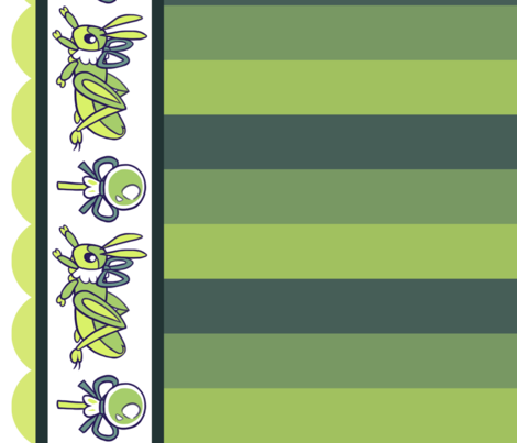 Lolita Bug: Green fabric by jayrock on Spoonflower - custom fabric