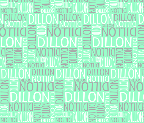 Personalised Name Design - Lt Green Grey fabric by shelleymade on Spoonflower - custom fabric