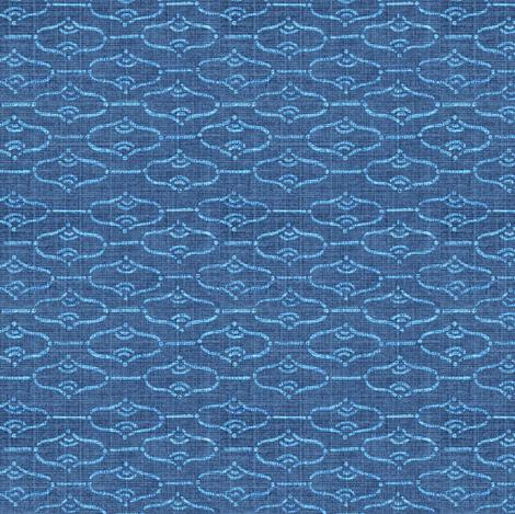 Aladdin - dark and light blue denim  fabric by materialsgirl on Spoonflower - custom fabric