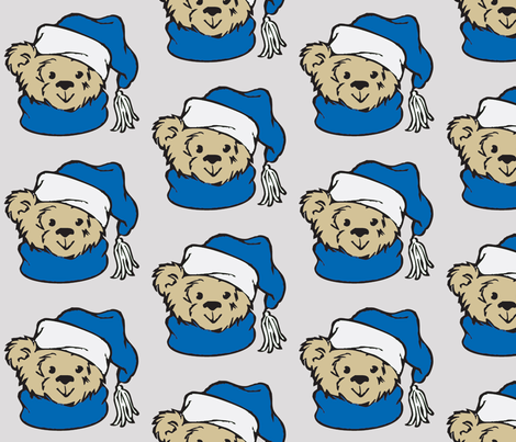 Winter Bear fabric by meaganrogers on Spoonflower - custom fabric